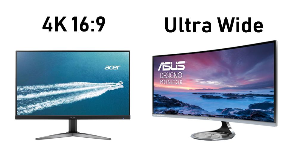 ultrawide monitor vs 16:9 4k
