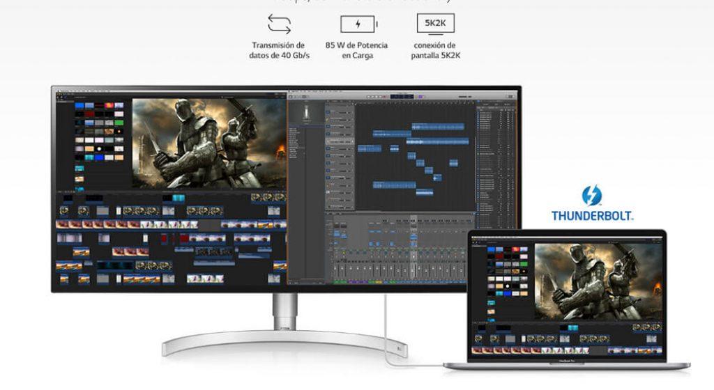 tecnologias de pantalla software LG 34WK95U