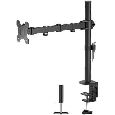 brazo de monitores grandes para escritorio en amazon